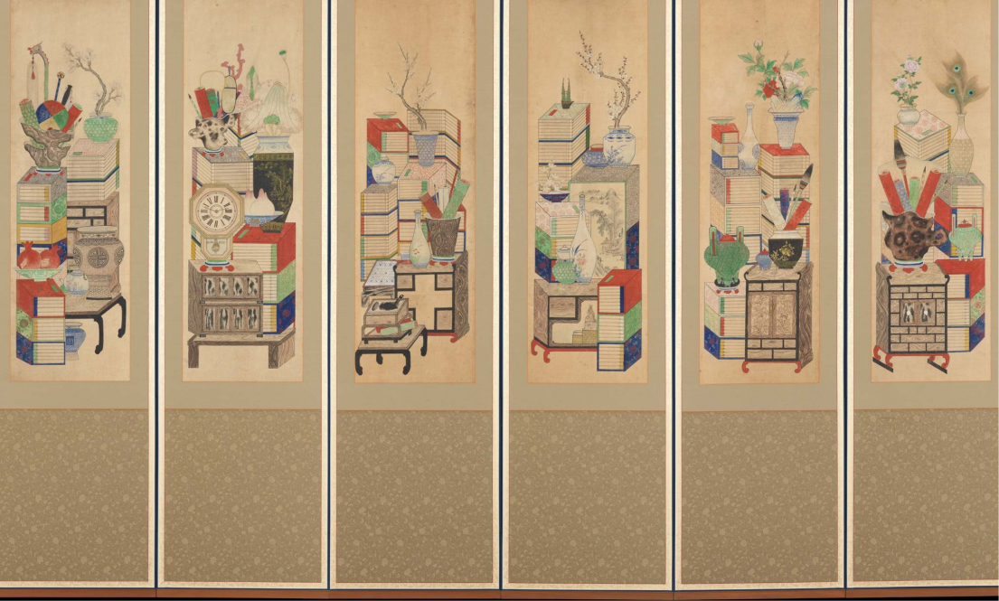 Books and Scholars' Possessions silk painting