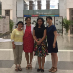 Invited researchers at the literacy and education panel in Beijing.