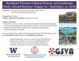 Northeast Vietnam Cultural History and Landscape Study Abroad Seminar: August 19 - September 10, 2018