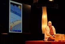 Katsura Sunshine performs traditional Rakugo