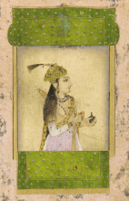 Noble Lady, a 17th century painting from Mughal India