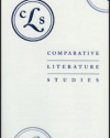 Title page of Comparative Literature Studies
