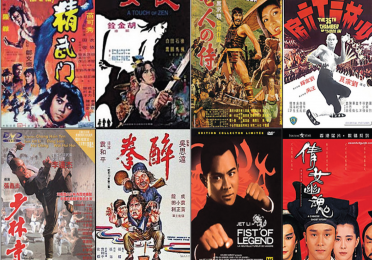 collage of martial arts movie posters
