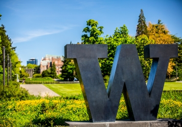 Image of Campus with 'W' Sign