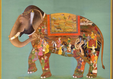 Colorful illustration of an elephant