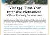 Flyer explaining the summer intensive Vietnamese class.
