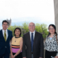 Image from Markus lecture, showing Dr. Paul Atkins (Department chair), Dr. Ronald Egan and his wife (lecturer), and Dr. Ping Wang
