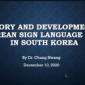 Image of Dr. Chang Hwang's face next to his Powerpoint slide